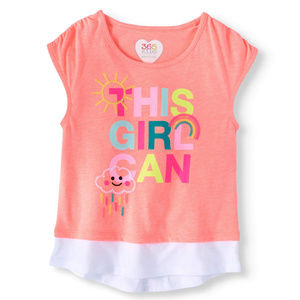 Girls' Novelty Graphic T-Shirts Size S~M